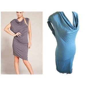 Helmut Lang Draped Front Jersey Dress